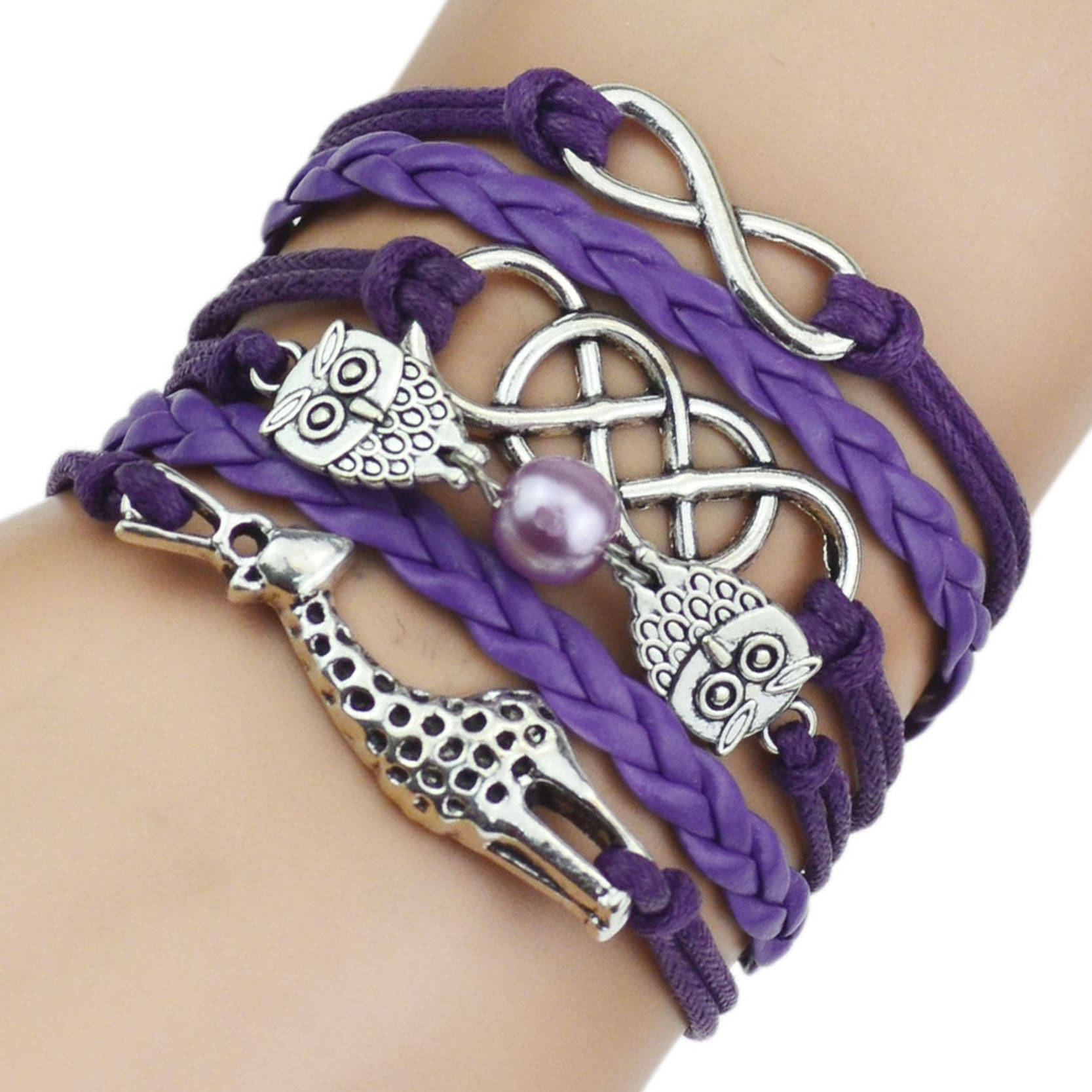 Handmade Jewelry Infinity Multilayer Leather Beads ...