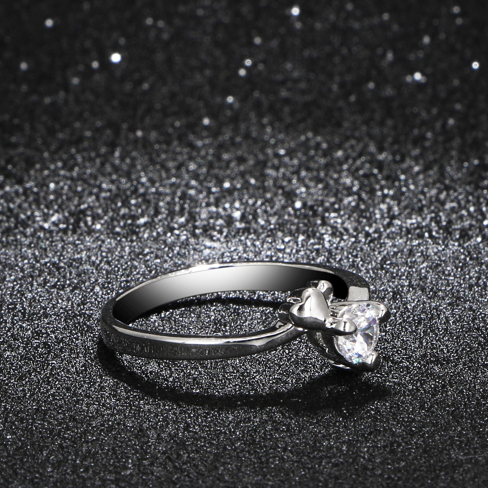 womens luxury wedding band promise ring fashion